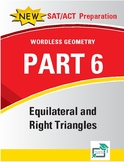 Equilateral and Right Triangles - 8 pages 42 questions wit