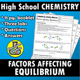 Equilibrium 11 pg. workbook and labs - factors affecting equilibrium