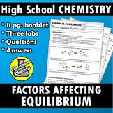Equilibrium - factors affecting equilibrium workbook and l
