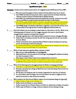 Equilibrium Film (2002) 10-Question Multiple Choice Quiz