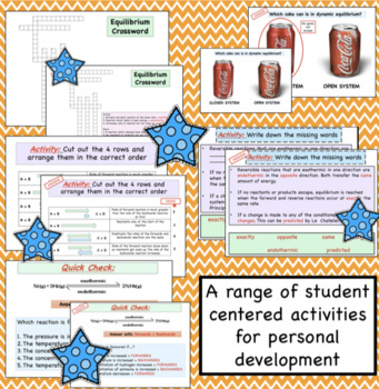 Equilibrium Reversible Reactions Resources and Worksheets