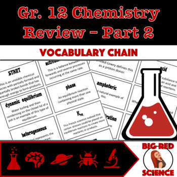 Grade 12 Chemistry Review Vocabulary Chain Part 2