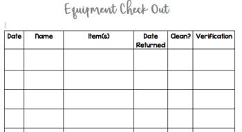 Equipment Checkout