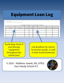 Equipment Loan Log Sheet