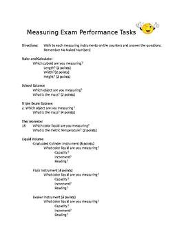 Measuring Exam Metric Performance Tasks