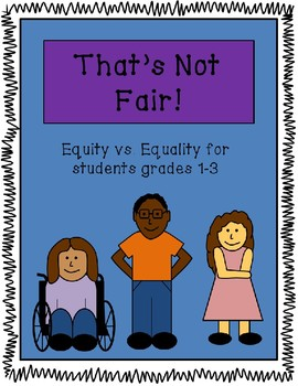 Equity Lesson Including: Plans, Activity, Visual and Worksheet