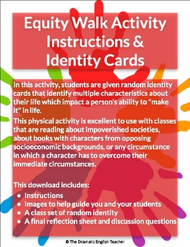 Equity Walk Instructions, Identity Cards, & Reflection