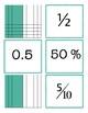 Fractions, Decimals, Percents & Grids Equivalency Cards