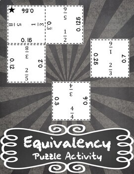 Equivalency Puzzle - Fractions and Decimals