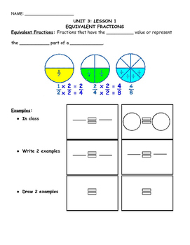 Equivalent, Adding, & Subtracting Fractions