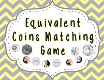 Equivalent Coins Matching Game