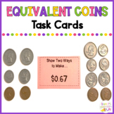 Equivalent Coins Task Cards