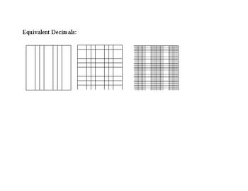 Equivalent Decimal Anchor chart