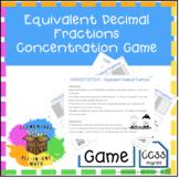 Equivalent Decimal Fractions - Concentration Game (4.NF.5)