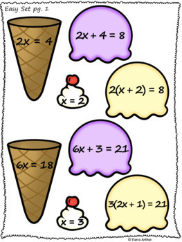 Solving Equations Activity Match Up