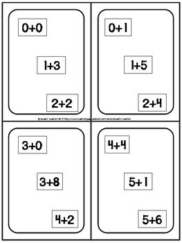 Equivalent Equations: Addition & Subtraction Game Bundle 1.OA.6 and 1.OA.7