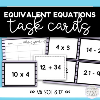 Equivalent Equations Task Cards