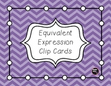 Equivalent Expression Clip Cards