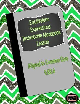 Equivalent Expression Interactive Notebook Lesson {6.EE.4}