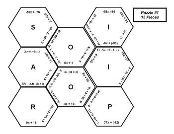 Equivalent Expressions - 3 Puzzles
