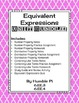 Equivalent Expressions Bundle-6.EE.3, 6.EE.4