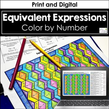 Equivalent Expressions Color by Number