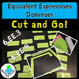 Equivalent Expressions Cut and Paste Dominoes