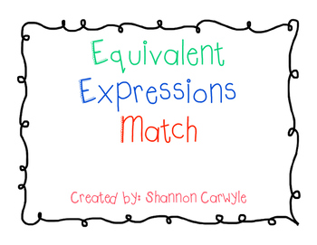 Equivalent Expressions Match