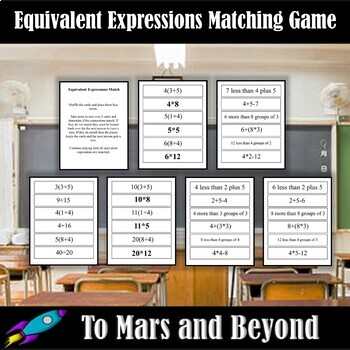 Equivalent Expressions Matching Game