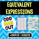 Equivalent Expressions Odd Man Out (Distributive Prop and Combining Like Terms)