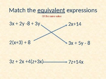 Equivalent Expressions Powerpoint