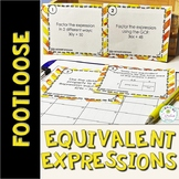 Equivalent Expressions Task Cards - Footloose Math Game