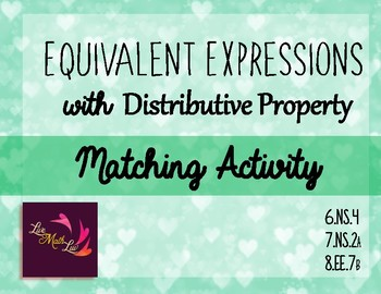 Equivalent Expressions with Distributive Property
