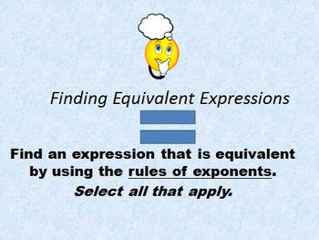 Equivalent Expressions with Exponent Prime Factorization