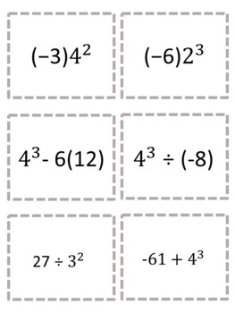 Equivalent Expressions with Exponents Game