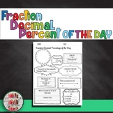 Equivalent FRACTION DECIMAL PERCENT OF THE DAY Daily Revie