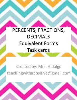 Equivalent Forms: Percents, Fractions, Decimals
