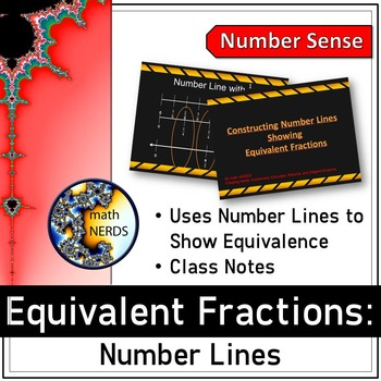 Equivalent Fraction - Number Lines: A Power Point Lesson
