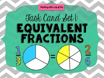 Equivalent Fraction Action (Task Card Set 1)