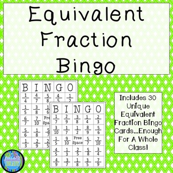 photo relating to Equivalent Fractions Games Printable known as Comparable Portion Bingo Worksheets Instruction Components TpT