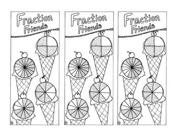 Equivalent Fraction Bookmark Three-Fourths PDF Printable Coloring Page