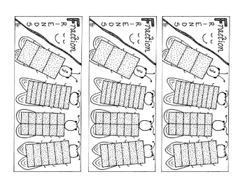 Equivalent Fraction Bookmark Three-Thirds Whole PDF Printa