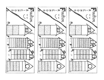 Equivalent Fraction Bookmark Two-Thirds PDF Printable Coloring Page
