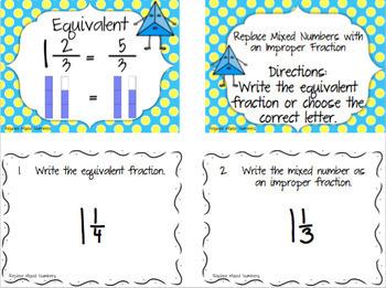 Equivalent Fraction Task Cards & Fraction Game Bundle