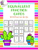 Equivalent Fraction Cards with Fraction Strips