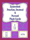 Fraction Decimal & Percent Flash Cards