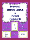 Fraction Decimal & Percent Flash Cards