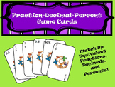 Equivalent Fraction-Decimal-Percent Game Cards
