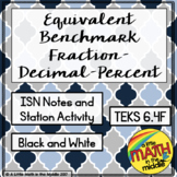 Equivalent Benchmark Fraction-Decimal-Percent Tables TEKS 6.4F