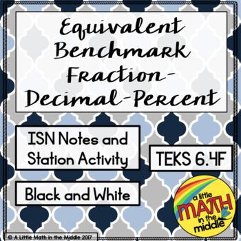 Equivalent Benchmark Fraction-Decimal-Percent Tables TEKS 6.4G